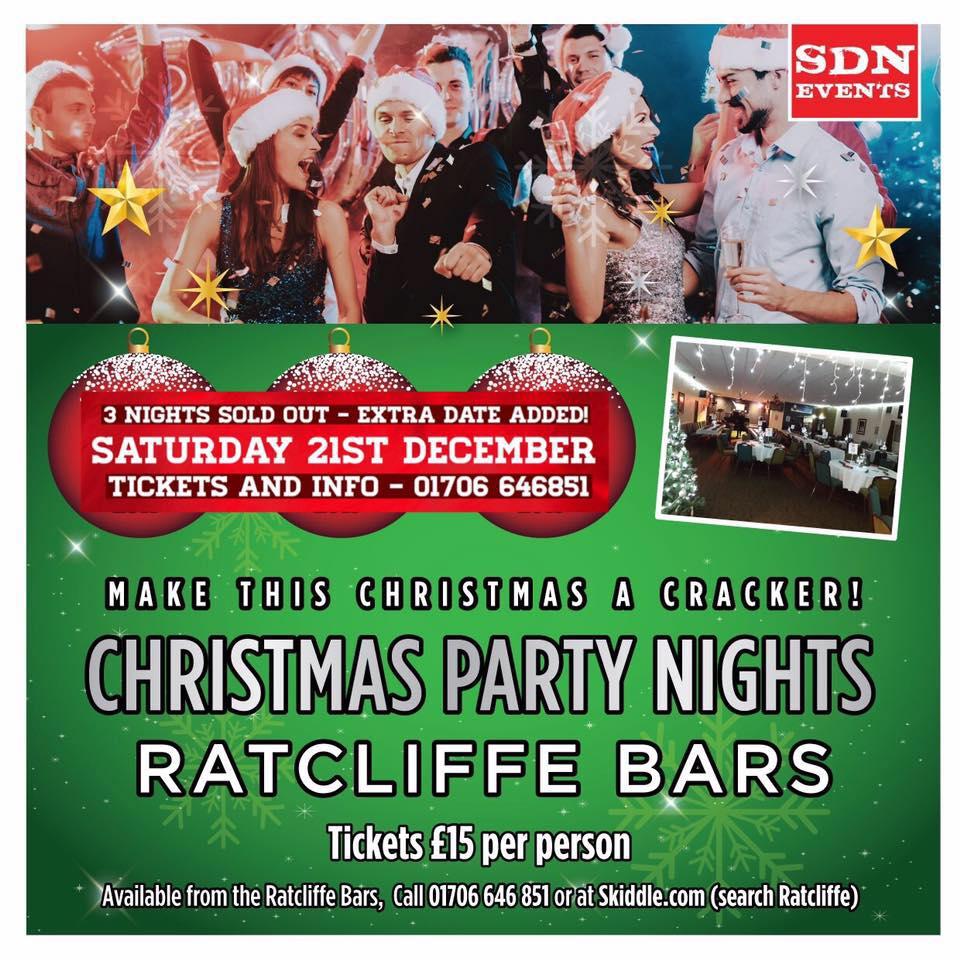 Christmas Party Nights At Ratcliffe Bars